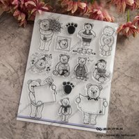 Wholesale Bear Rubber Stamp - Wholesale- Animal Bear Scrapbook DIY photo cards account rubber stamp clear stamp transparent seal chapter school Kid Christmas gift
