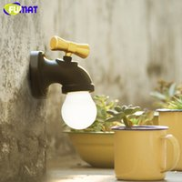 FUMAT Tap Night Light Home Decor USB LED Новинка Ночные огни Faucet Shape Voice Sense Lamp для спальни Room Room Room
