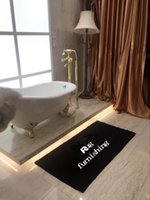 Wholesale Soft Bathtub - Popular shaggy bathroom mat 140 x 70 cm black long bathtub rugs soft bathroom carpet non-slip
