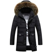 Wholesale Winter Hoodies Duck Down - Wholesale- 2016 New Brand Winter Jacket Men White Duck Down Long Jackets Warm Coat Casual Men's thick Down Overcoat Jackets parka hoodies