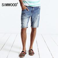 Wholesale Demin Jeans Short - Wholesale-SIMWOOD brand 2016 new autumn winter jeans shorts men demin bermuda masculina Denim Trousers KD5040