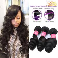 mocha dokuma saç toptan satış-Brezilyalı Gevşek Dalga Işlenmemiş Insan Saçı Örgüleri Mocha Saç Ücretsiz Nakliye 100% Doğal Renk İnsan Saç Uzantıları Sıcak Satış 4 adet