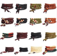 Wholesale Variety Beads - 108 Beads Multilayer Bracelet with 6 mm to 8 mm Beads Bracelet Wholesale a Variety of Colors Free shipping