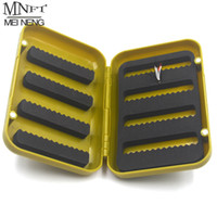 Wholesale Fly Fishing Box Case - Wholesale- MNFT 1PCS ABS Plastic Foam Fly Fishing Flies Lure Box Fly Tying Artificial Insect Bait Hook Case Boxes Fish Accessories L S