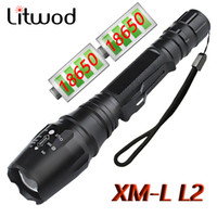 Wholesale Alloy T6 - Litwod High Quality LED Flashlight Chip XM-T6 Zoomable Waterproof Extended Edition Alloy Mterials Led Torch Aluminum 5 Model