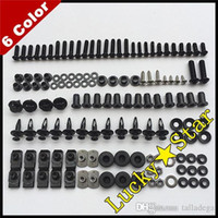 Wholesale 93 Zx 11 Fairings - 100% For KAWASAKI NINJA ZX11D ZX-11D ZX 11D ZX11 ZX 11 1993-2002 93-02 Body Fairing Bolt Screw Fastener Fixation Kit