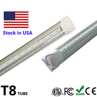 Wholesale Leds W - V Shape LED Tube 4ft 5ft 6ft 8ft LED Double Row LEDs SMD2835 Cool Door LED Light Fluorescent Tube Lamp 100LM W AC85-265V