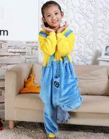 Wholesale Despicable Pyjamas - Children Clothing Despicable Me Minions Animal Pajamas Cosplay Costumes Unisex kids clothes Flannel Sleepwear Onesies Pyjama