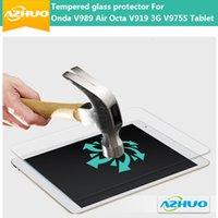 Wholesale Onda V975s - Wholesale-High quality Tempered Glass Screen Protector For Onda V989 Air Octa V919 3G V975S Tablet