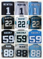 Wholesale Elite American Football Jerseys - Men's 1 Cam Newton 13 Kelvin Benjamin 22 Christian McCaffrey 59 Luke Kuechly 88 Greg Olsen Elite American Football Jersey Top Quality