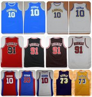 Wholesale Yellow Worms - Throwback Oklahoma Savages Dennis Rodman College Basketball Jerseys The Worm 10 73 91 Dennis Rodman Shirts Cheap Stitched Basketball Jersey