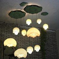 Wholesale Leaf Led Lamp - New Lotus Chandelier Pendant Light Lotus Leaf Ceiling Lotus Lamp Decor Lighting