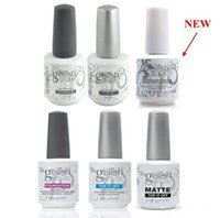 Wholesale Clear Color Uv Gel - Harmony Gelish Nail Polish STRUCTURE GEL Soak Off Clear Nail Gel LED UV Foundation Top it off Nail art lacquer color gel free ship