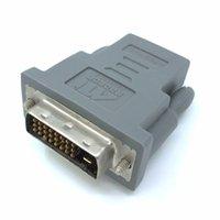 Wholesale Radeon Hdmi - (100pieces lot) ATI Radeon DVI male to HDMI Female Video Audio Adapter 6140063501G Rev B 0841 ATI HDMI DVI Graphics conncetor