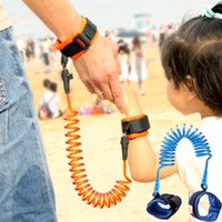 Wholesale Fresh Child - Children Kids Baby Anti Lost Wrist Link Safety Harness Strap Rope Rotaing Fresh Connector Rope With Metal Cuff Leash Strap Adjustable WX-H06