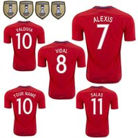 Wholesale National Soccer Team Uniform - 2017 Chile National Team Soccer Jersey 16 17 CONMEBOL CAMPEON 2016 CHILE CHAMPIONS Home Red Football Shirt uniform