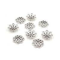 chapeaux de perles de 14 mm achat en gros de-200 pcs 14mm Métal Alliage Perles Caps Fleur Antique Argent Perle Cap Accessoires Pour Bijoux Bijoux Fabrication Matériel