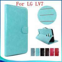 Wholesale Cover For Album - For LG X Power2 ZTE V8 PRO Wallet Case For LG LV7 LV9 Leather flip cover credit card photo album slots