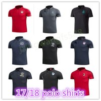 Wholesale Ronaldo T Shirts - spain football polo shirt 2018 Real Madrid Soccer Jerseys T shirt 17 18 NEYMAR JR RONALDO POGBA jersey Colombia soccer polo Shirts