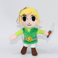 "Wholesale Collectible Movie Swords - New Fun 6"" The Legend of Zelda Plush Doll Skyward Sword Waker Link Anime Collectible Dolls Keychains Pendants Gifts Soft Stuffed Toys"