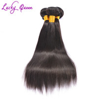 Wholesale Queens Peruvian Hair - Peruvian Virgin Hair Straight Lucky Queen Hair Products 3pcs Lot Unprocessed Virgin Peruvian Straight Virgin Human Hair Weave