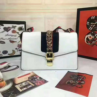 Wholesale Green Party Handbag - 2017 New High Quality Fashion Women Handbags Bow Decorate Shoulder Chain Bags Tote Genuine Leather Handbags College Style Party Bag dhY-317