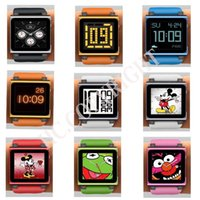 Wholesale Gen Digital - Wholesale-Fit your iPod Nano 6 Colorful Digital iwatchz Q Collection Silicone Wrist Watch Strap Soft Case Cover for 6th Gen Generation