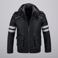 Wholesale Alex Mercer Prototype Jacket - Cool Mens Detachable Double-layer Collar Game Prototype Alex Mercer Short Jackets Outwear with Embroidery Pattern High Quality