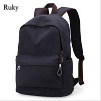 eski üniversite çantaları toptan satış-Toptan-Vintage Moda Sırt Çantası erkek Tuval Sırt Çantası Rahat Seyahat Sırt Çantası Gençler Erkekler Dizüstü Sırt Çantaları Koleji Öğrenci Okul çantası