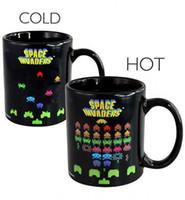 Wholesale tea pottery resale online - Magic Space Pixels Mug Heat Sensitive Color Change Mugs Hot Coffee Tea Cup Birthday Children Present New yo