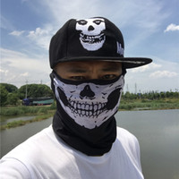 Wholesale Bone Skulls - Men Snapback Baseball Cap Ghost Skull Mask Skeleton Hats Woman Bone Snap Back Gorras Men Hip Hop Cap Baseball Caps 1 set