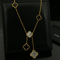 Wholesale Titanium Snake Pendant - 316L stainless steel gold plated White agate Black flower lover Necklace gold Fine Natural red agate Jewelry women