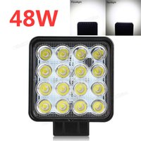 Wholesale Led Headlight For Car Motorcycle - Car Lights Headlight Bulbs CREK 48W 3200LM 4 Inch 12V 24V Waterproof Square LED Work Light for Motorcycle   Tractor   Boat