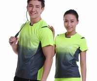 Wholesale Tenis Wears - New Sportswear Quick Dry breathable badminton Wear shirt,Women   Men table tennis T-shirt clothes team game short sleeve tenis T-Shirts