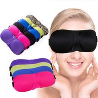 Wholesale Black Eyepatch - 3D Sleep Masks Stereoscopic Goggles Natural Sleeping Eye Mask Black Eyeshade Cover Shade Eye Patch Blindfold Travel Eyepatch 6 color