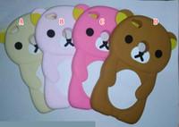 Wholesale Yellow Cute Teddy Bear - 3D Rilakkuma Bear Soft Silicone Case For Samsung Galaxy S7 Edge A3 A5 Huawei P10 P9 P8 Lite 2017 Teddy Cartoon Cute Phone Skin Animal Cover