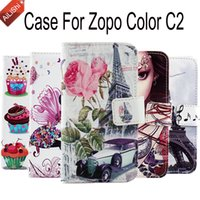 Wholesale Cover For Zopo C2 - AiLiShi Hot Sale Wallet Protective Cover Skin Case For Zopo Color C2 Book Style Elegant Flip Cartoon PU Leather Case In Stock