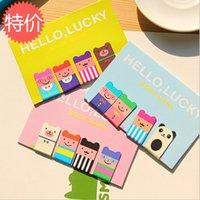 Wholesale Cute Bookmark Diy - Wholesale-4 pcs lot (1 bag) DIY Cute Kawaii Luckboy Metal Magnetic Bookmarks for Book School Supplies Korean Stationery Free shipping 726