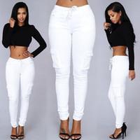 Wholesale Long Cargo Pants For Women - Autumn Trousers For Women 2016 Long Cargo Women's Pants Drawstring Casual Pantalon Femme White Female Pants Women Plus Size