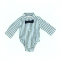 Wholesale Boys Romper Bow Tie - Infant Boys Romper Long Sleeve With Bow Tie Gentleman Style Striped High Quality Brand Fall Baby Clothing