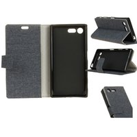 Wholesale Linen Iphone Case - For SONY XZ Premium Linen Cloth Pattern Wallet Case Kickstand Filp Cover With Card Slots For Iphone 7 plus LG stylo 3 OppBag