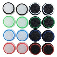 Wholesale Xbox One Caps - Game Accessory Protect Cover 16pcs 8 Pairs Silicone Thumb Stick Grip Caps for PS4  Xbox 360  PS3  Xbox one Game Controllers