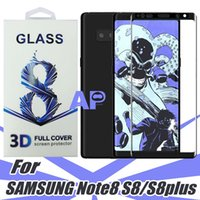 Wholesale Transparent Film Glass - For Samsung Galaxy Note 8 S8 Plus 3D Transparent Color Tempered Glass 0.2MM 9H Hardness 3D Curved Surface Screen Protectors Film