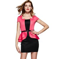 Wholesale Hot Sale Womans Clothes New Arrivals Office Ladies Work Dresses Pink Mini Dress for Women Career Outfit