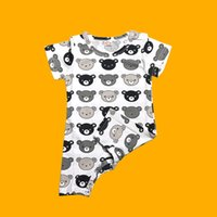 Wholesale Baby Shorts Pattern Free - 2017 NEW Baby Comfortable Summer Clothes Siamese Suit Short Sleeved Crawl Suit Cartoon Pattern Free Shipping
