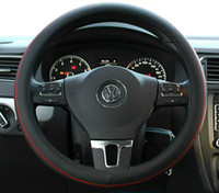 Wholesale Mazda Steering Wheel Covers - Leather Car Styling Steering Wheel Cover For Mazda 3 2 Mazda 6 Axela CX-5 CX-7 CX7 CX-9 RX8 2014 2015 2016 Auto Accessories