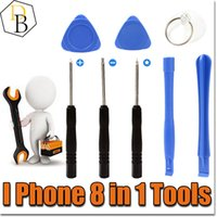 Wholesale Tools Kit For Phones - IPhone Reparing Tools 8 in 1 Repair Pry Kit Opening Tools Pentalobe For Iphone 7 plus Torx Slotted screwdriver For Samsung moblie phone