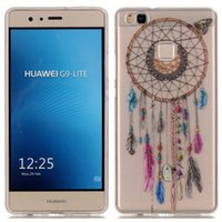 Wholesale Moto Girl - For Huawei Ascend P8 Lite 2017 P10 moto G5 Plus Clear transparent Skin TPU cover case Macaron feather Dreamcatcher Girls Sweet cute 1pcs