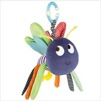 Vente en gros - Bébé Soft Bee Peluche Toy Teether Colorful poussette Crib Bed Ring suspendu Bell Baby Rattle Educational Doll jouedos juguetes