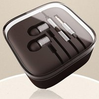 Wholesale Mic 5mm - .5mm Metal piston Headphone Earphone Noise Cancelling In-Ear Headset earphones with Mic Remote For Xiaomi Samsung iphone 6 6s